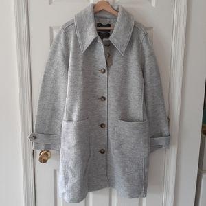 NWT J Crew Italian Boiled Wool Lady Coat Size 16
